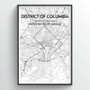 District of Columbia City Map