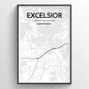 Excelsior Map Art