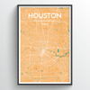 Houston Map Art