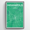Indianapolis Map Art
