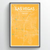 Las Vegas City Map Print street wall art