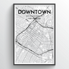 Los Angeles - Downtown City Map