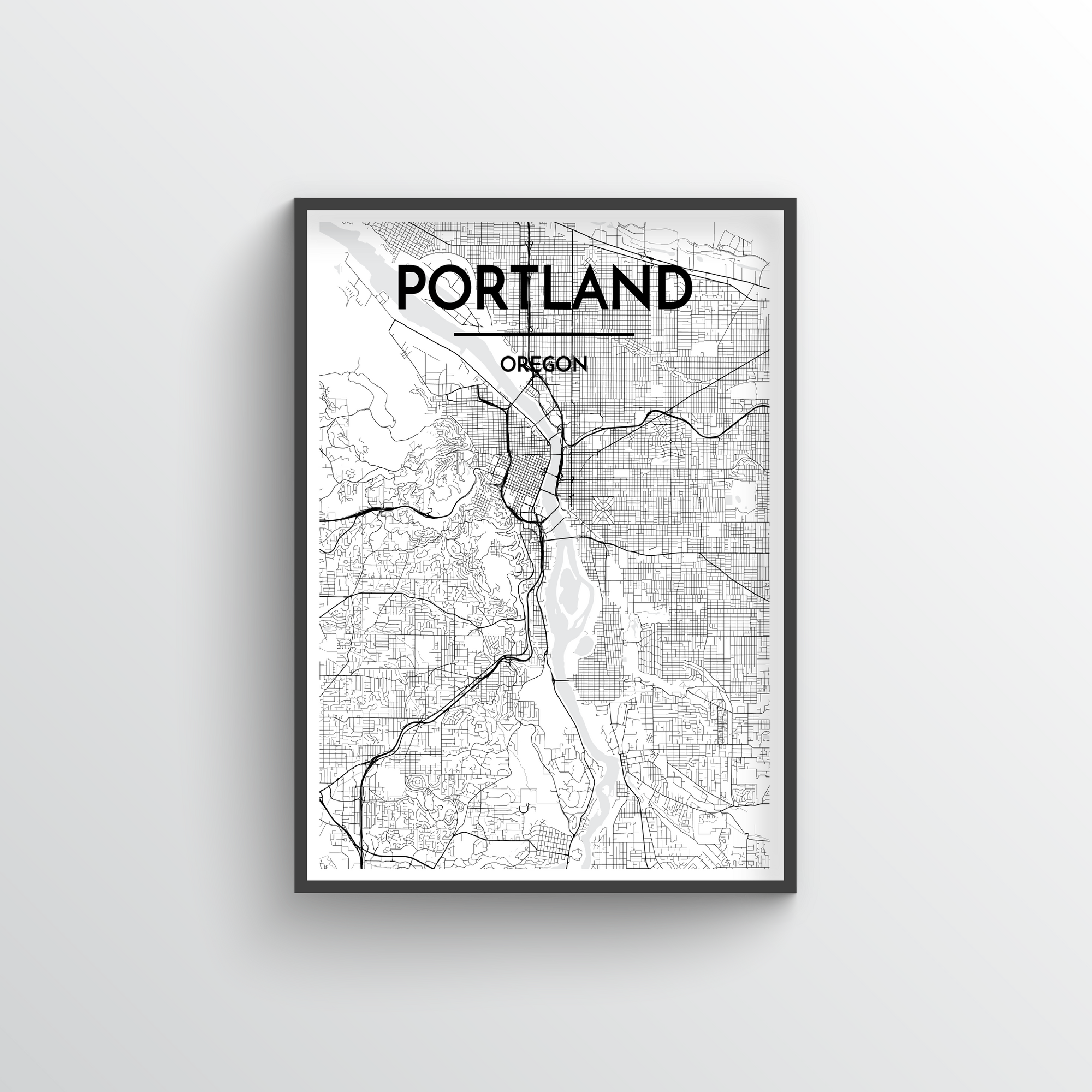Portland, Oregon - Map Art - Point Two Design
