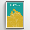 Ancona City Map Print street wall art