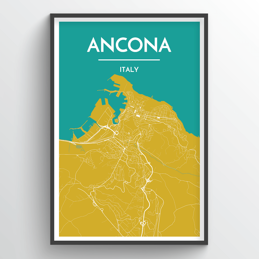 Ancona, Italy - Map Art - Point Two Design
