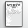 Bournemouth Map Art