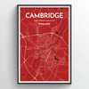Cambridge Map Art