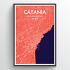 Catania City Map Print street wall art