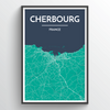 Cherbourg Map Art