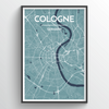 Cologne Map Art