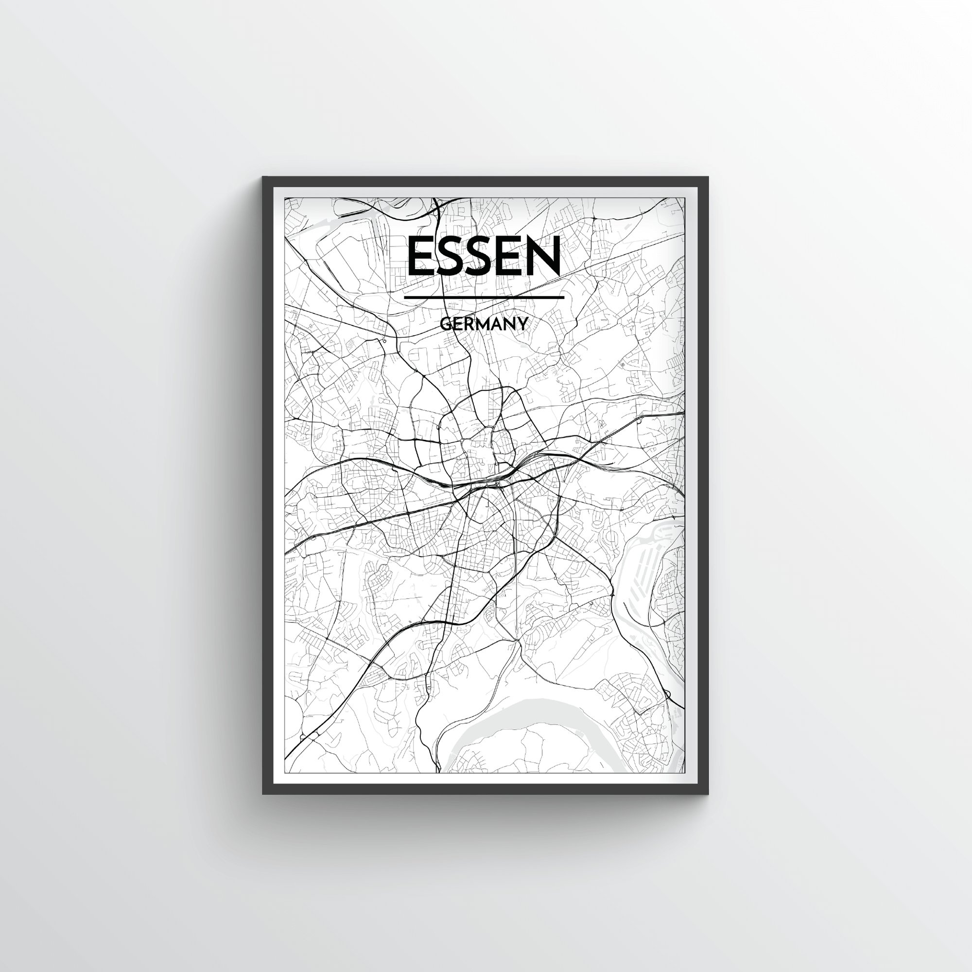 Essen Germany Map Art Point Two Design
