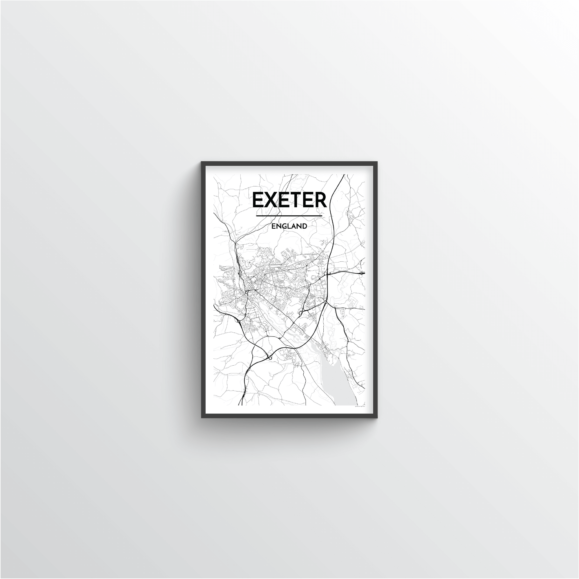 Exeter England Map Art Point Two Design