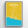 Genoa City Map Print street wall art