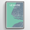 Le Havre Map Art
