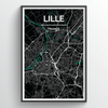 Lille Map Art