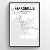 Marseille Map Art