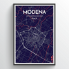 Modena City Map Print street wall art