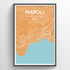Naples City Map Print street wall art