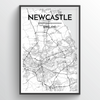Newcastle Map Art