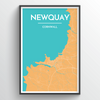 Newquay City Map Print street wall art