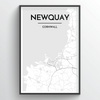 Newquay Map Art