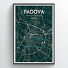 Padova City Map Print street wall art