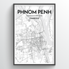 Phenom Penh Map Art