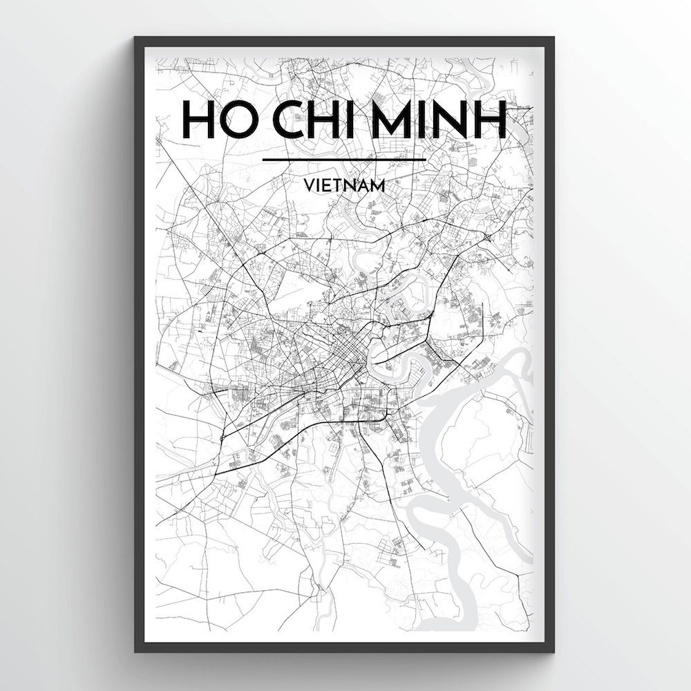 Ho Chi Minh Vietnam Map.Ho Chi Minh Vietnam Map Art Point Two Design