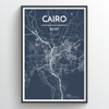 Cairo Map Art