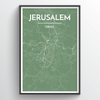 Jerusalem City Map Print street wall art