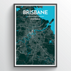 Brisbane Map Art