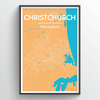 Christchurch Map Art