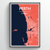 Perth Map Art