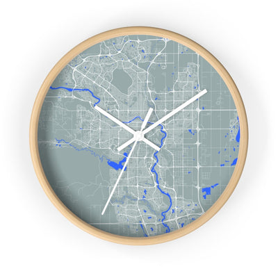 Moder City Wall Clock of Calgary / No City Name / Divider Lines