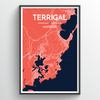 Terrigal Map Art