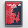 Wellington Map Art