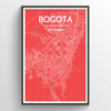 Bogota City Map Print street wall art