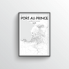 Port Au Prince Map Art