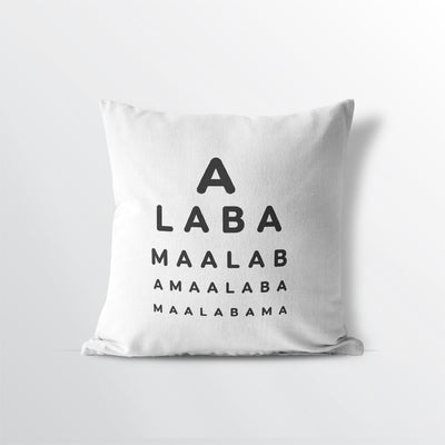 "Alabama ""Eye Exam"" Throw Pillow"