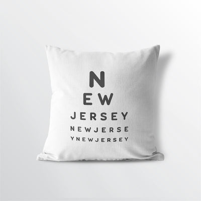 New Jersey state throw pillow 100% cotton free ship