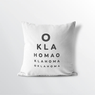 Oklahoma state throw pillow 100% cotton free ship