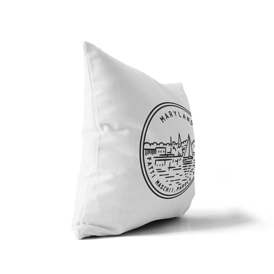 Mayland State Throw Pillow