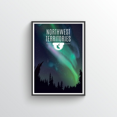 Northwest Territories Print 18x24""