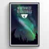 Northwest Territories Print 24x36""