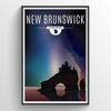 New Brunswick Province Illustration Print