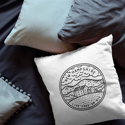 New Hampshire state throw pillow 100% cotton free ship