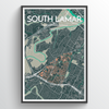 South Lamar Neighbourhood of Austin Map Art