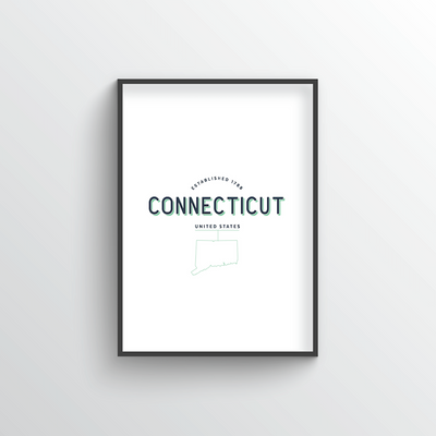 Connecticut Word Art