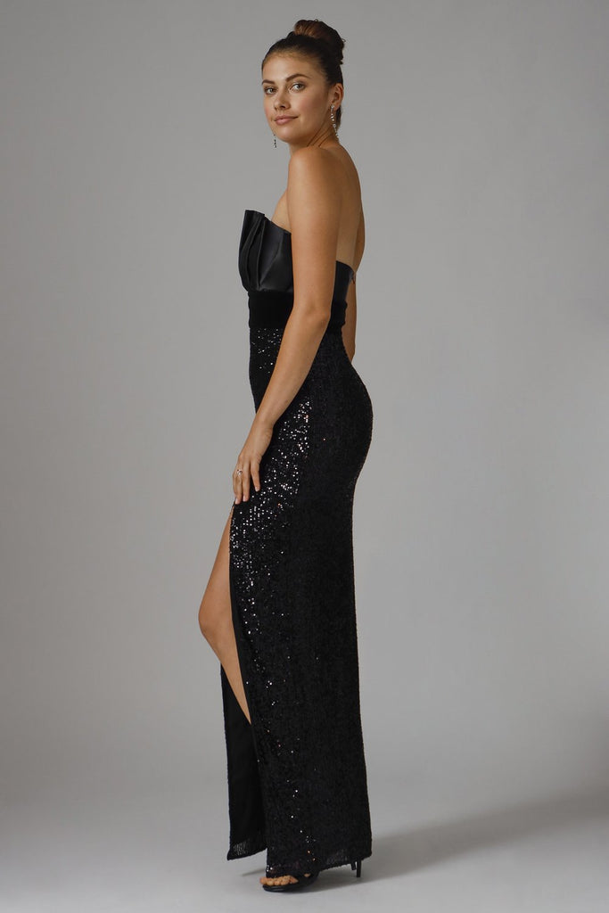 Jay Godfrey Jace Strapless Sequin Gown