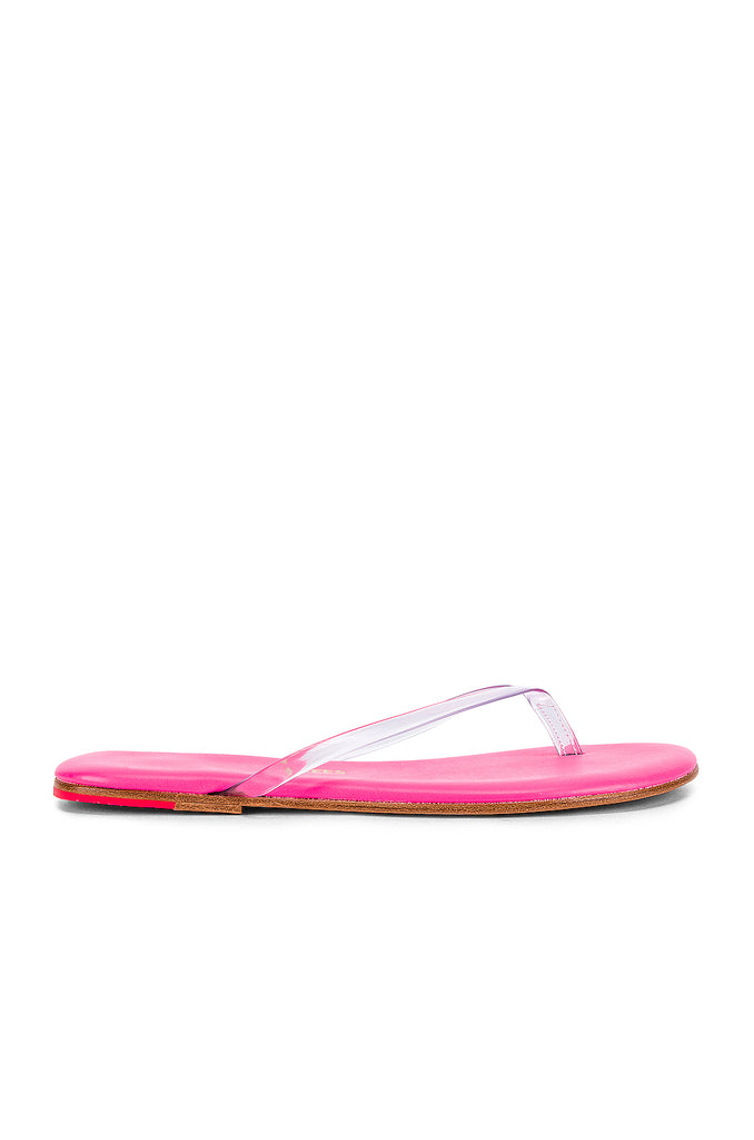 TKEES Clear Neon Pink Lil Sandal